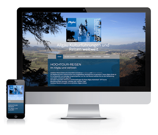 WEBSITE Hochtour-Reisen