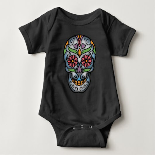 Day of The Dead Sugar Skull Baby Bodysuit