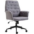 HomCom Modern Tufted Home Office Chair