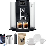 Jura E6 Coffee Center with Jura Cartridge and Capresso Whole Bean Coffee Bundle