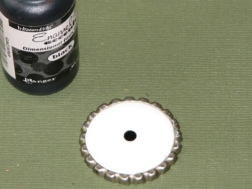Enamel Accent Bottle Cap Charm 004