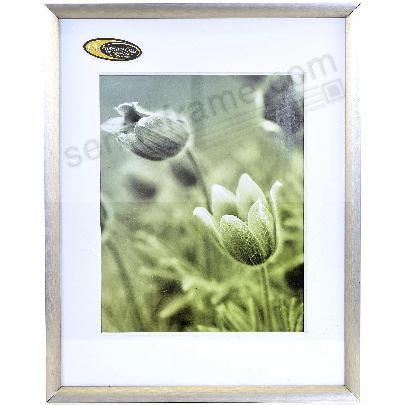 Satin German Silver Cosmopolitan Matted Metallic Frame 16x2011x14