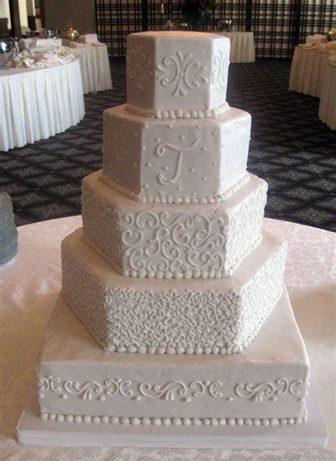 Hexagon Wedding Cakes   Wedding Cakes ~ Lovely Lace