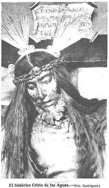 Cristo de las aguas en 1928. Foto Rodriguez