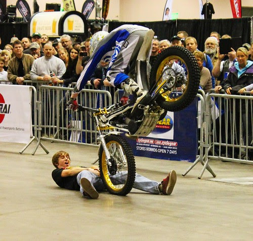 Smage Brothers Stunt Show at Motorcycle Show Minneapolis