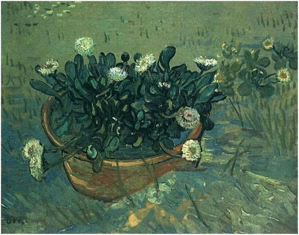 Still Life: Bowl with Daisies