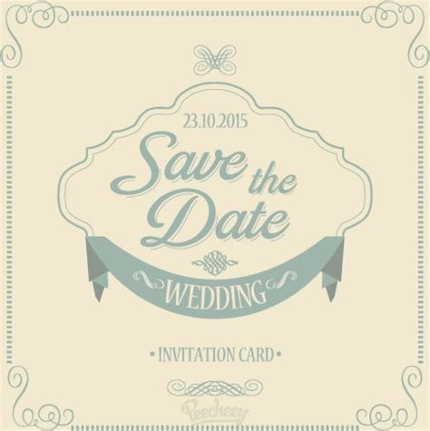 Save the date wedding invitation Free vector in Adobe