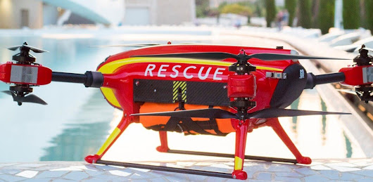 Auxdron Lifeguard Drone rescues swimmers from Spanish beach - sUAS News - The Business of Drones