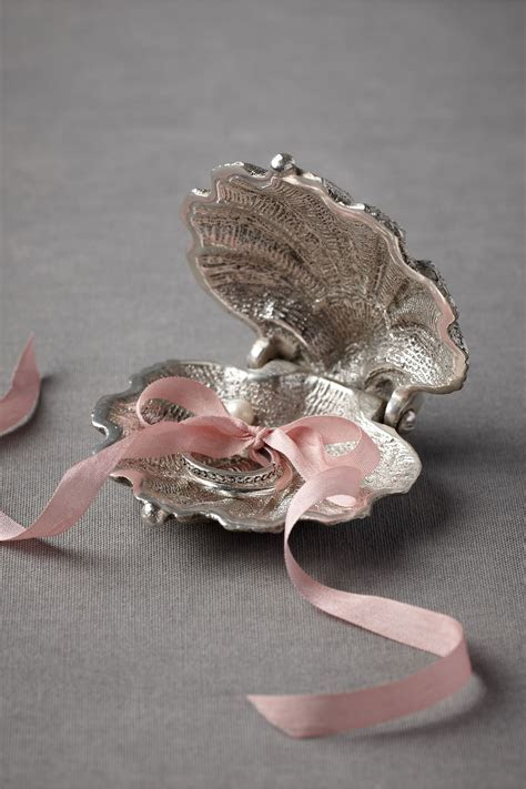 Silvery Seashell Ring Holder in Décor View All Décor at