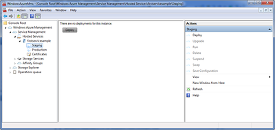 Windows Azure Staging