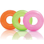 Intex Colorful Transparent Inflatable Swimming Pool Tube Raft (3-Pack)| 59260EP by VM Express
