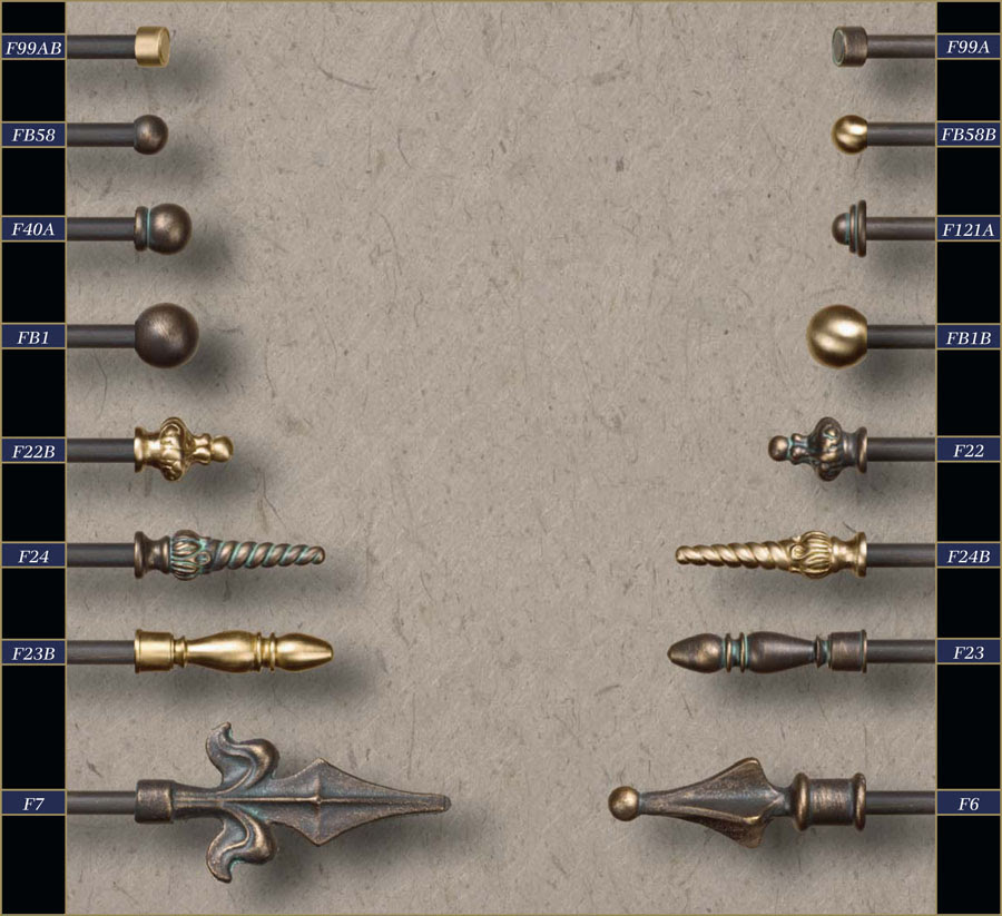 Wholesale 38 Wrought Iron Curtain Rods Finials Gabys Shoppe