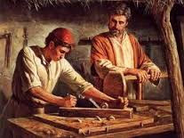 Jesus learning his trade