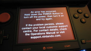 Nintendo 3DS getting 'Black Screen of Death'?