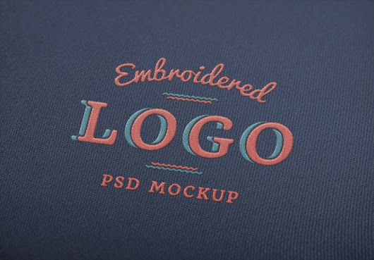 Embroidered Logo MockUp - 365psd