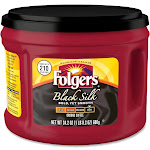Folgers Black Silk Ground Coffee - 24.2 oz canister