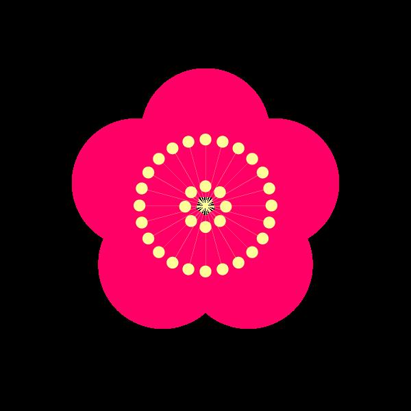 縁無しでかわいい梅の花の無料イラスト商用フリー オイデ43
