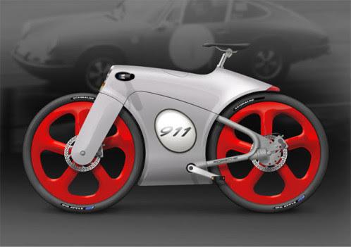 porsche bicycle concept by Bastiaan Kok