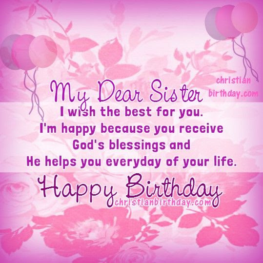 My Dear Sister Happy Birthday Pictures Photos And Images For