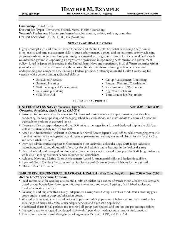 Government Resumes Templates