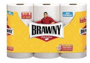 Brawny 3 pack paper towels Brawny Paper Towels (3 Giant Rolls) Just $3.47
