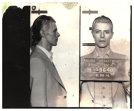 TV news footage of David Bowie's 1976 arrest in Rochester, NY