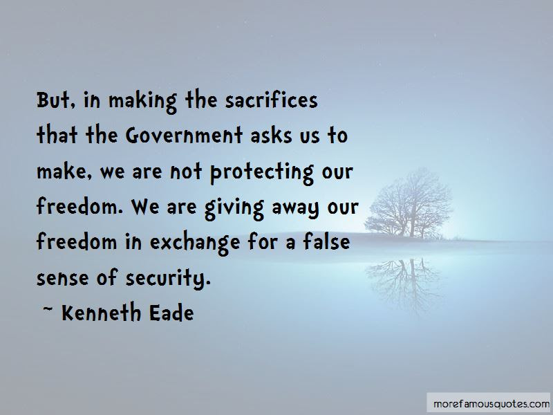 Quotes About Giving Up Freedom For Security Top 4 Giving Up Freedom