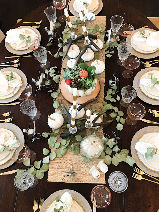 Simple Thanksgiving Tablescape - Home of Malones