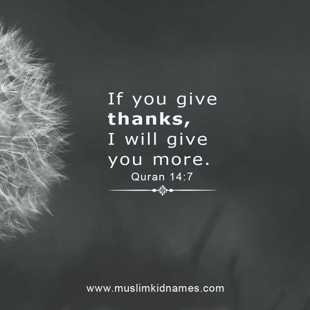 Inspirational Islamic Quotes About Thanks