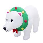 Santas Forest 90357 Christmas Inflatable Polar Bear, 8'
