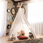 Best Choice Products Teepee Tent Kids Playhouse Sleeping Dome, White