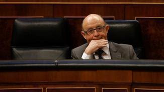 Crsitóbal Montoro, aquest matí, durant el ple del Congrés (EFE)