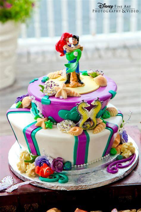 Little Mermaid Prince Eric and Ariel Disney Wedding Cake