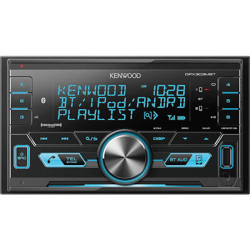 Kenwood Double Din Digital Media Receiver with Bluetooth, Black