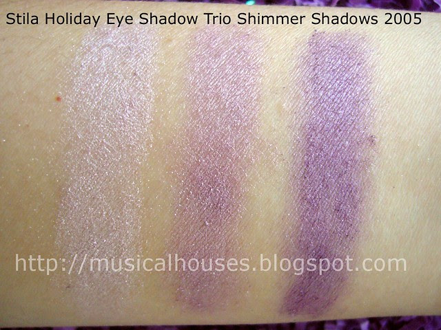 stila Seasonal Eye Shadow Trio Shimmer Shadows 2005 Cool swatch
