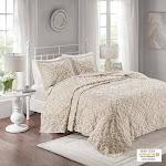 3 piece Tufted Cotton bedspread set Taupe 030