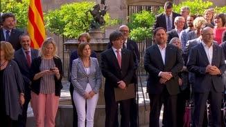 Declaració institucional del govern sobre el referèndum de l'1 d'octubre