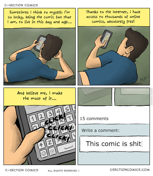 I'm a Webcomic Consumer - C-Section Comics