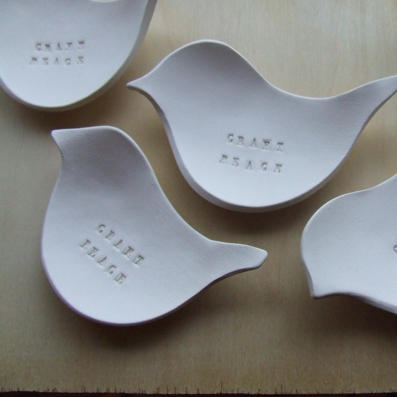 CRAFT PEACE dove tiny text bowl