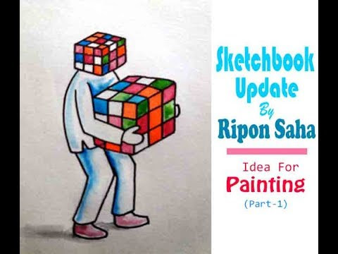 Sketchbook update by Ripon Saha(part 1)....Easy Ideas for painting.