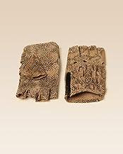 Leather Fingerless Ruffle Gloves