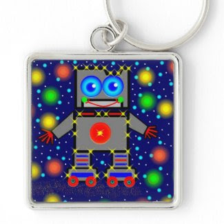 Roller Blading In Space keychain