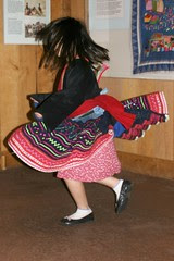 Spinning in a Hmong Skirt