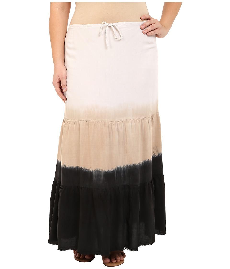 BECCA by Rebecca Virtue - Plus Size Becca ETC Dusk to Dawn Skirt Cover-Up (Black) Women's Swimwear