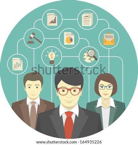 Conceptual Illustration Of The Teamwork Of Professionals - 164935226 : Shutterstock