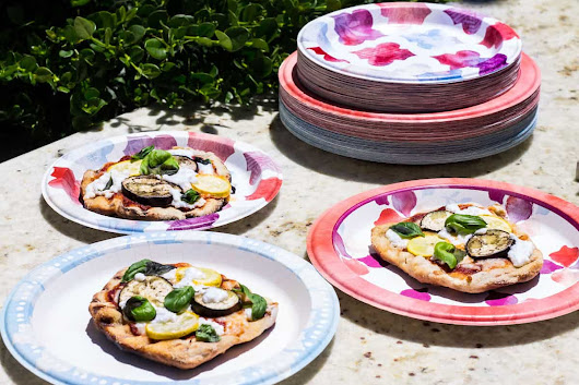 Grilled Pizza with Eggplant and Goat Cheese - Mon Petit Four