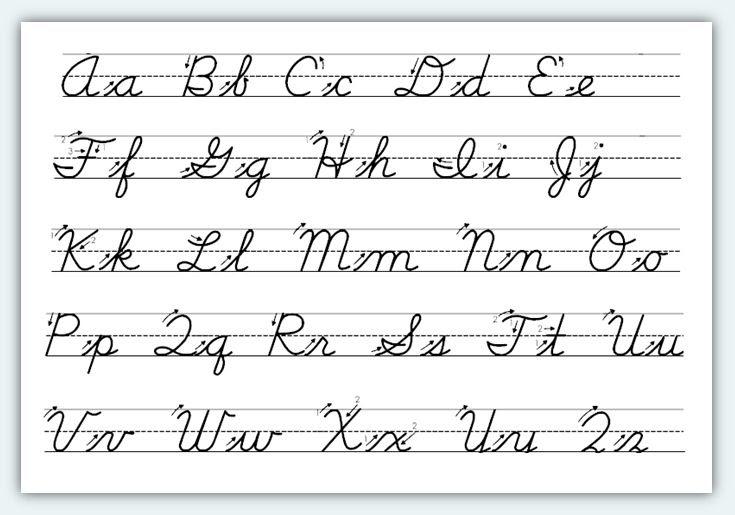 How To Write In Cursive_Cursive In Schools_Orlando Digital ...