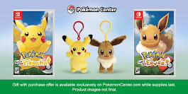 US: Pre-order Pokemon: Let's Go! From Pokemon Centre And Get A Free Pikachu Or Eevee Plush Key Chain | My Nintendo News