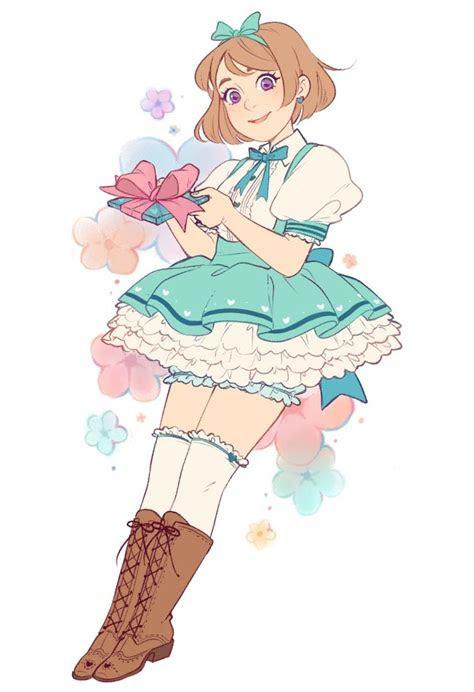 birthday girl anime art kawaii anime girl anime art