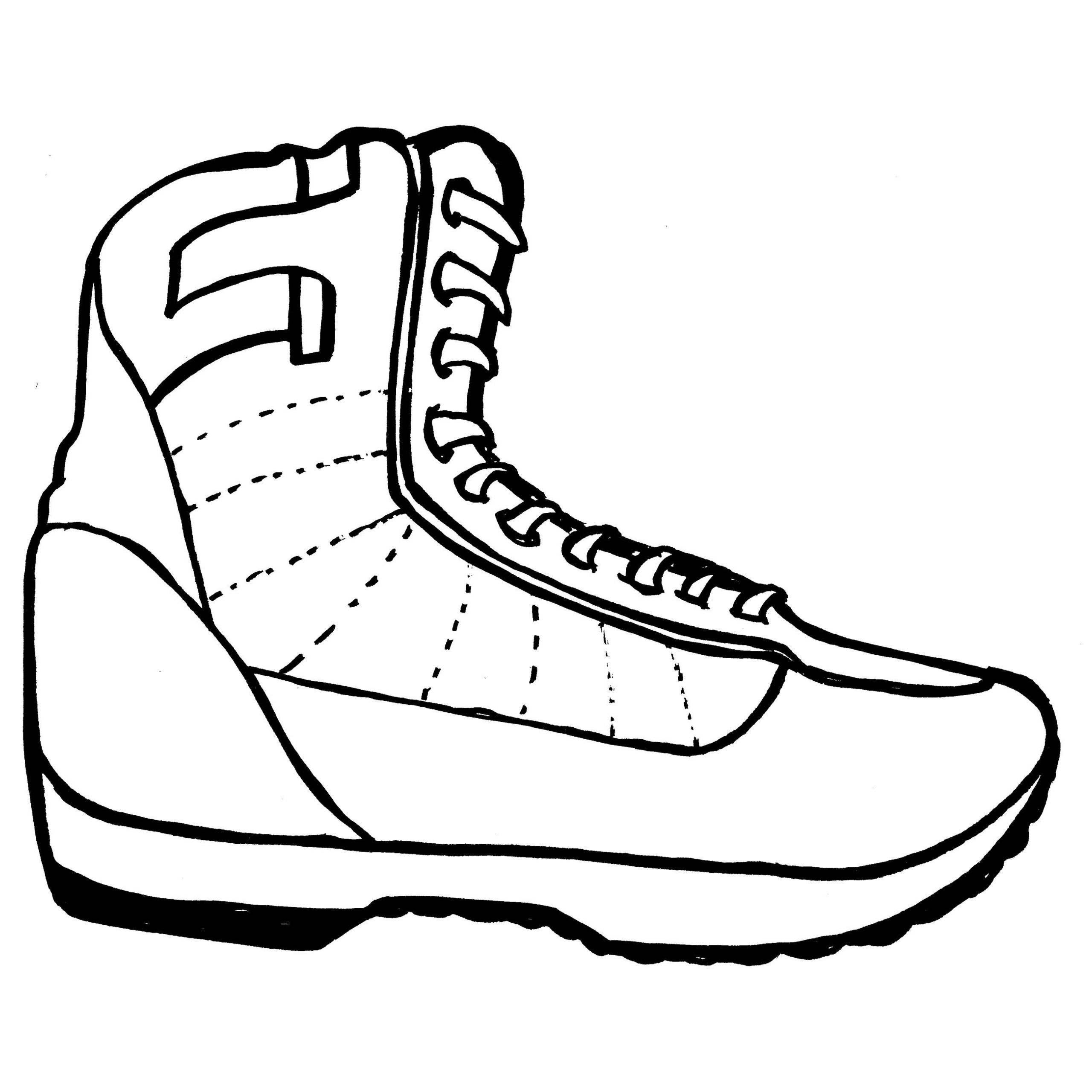 Koleksi Gambar Mewarnai Sepatu